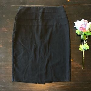 {A6} Candies Black Pencil Skirt